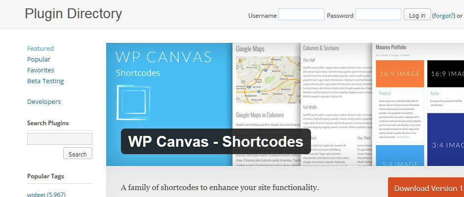 WP Canvas Shortcodes